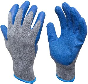 G&F Cotton Blend Large Rubber Latex Gloves