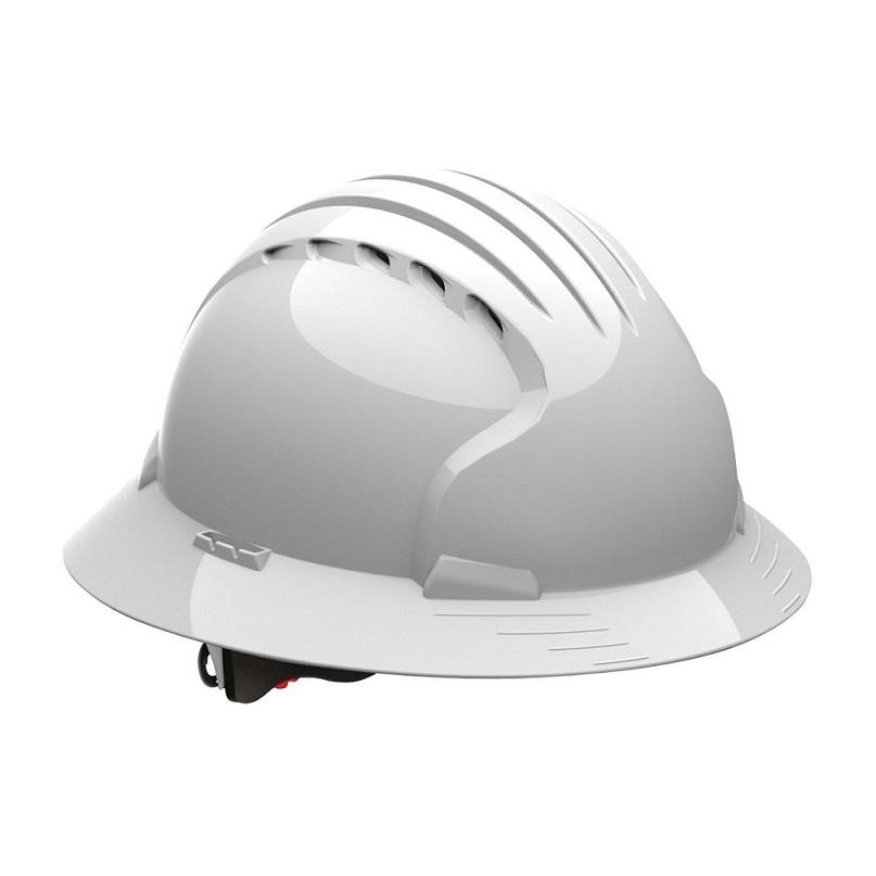 Evolution Deluxe 6161 280-EV6161-10V Full Brim Hard Hat with HDPE Shell