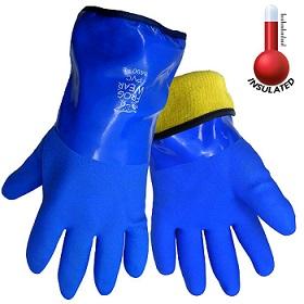 FrogWear 8490 Insulated & Waterproof Blue Tripple Dipped Work Gloves