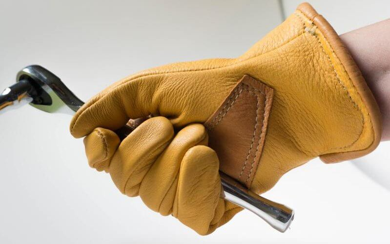 leather work gloves photo
