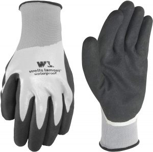 Waterproof Work Gloves with Latex Double Coating, Large