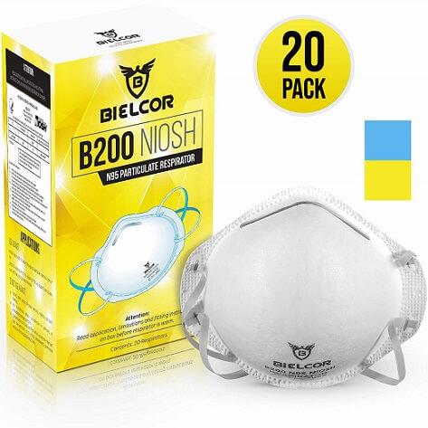 Dust Mask Respirator 95% Filtration N95