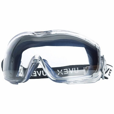 Uvex Stealth OTG Safety Goggles with Anti-Fog/Anti-Scratch Coating
