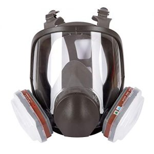 Respirator Dust Mask Paint Mask,for Painting,Particulate,Chemicals,Machine Polishing,Welding and Other Work Protection,Industrial Chemical Gas Anti-DUST Spray Dual Respirator FACE MASK (Gray)