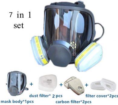 The  ZYC 7 in 1 Gas Mask Full Face Facepiece Respirator