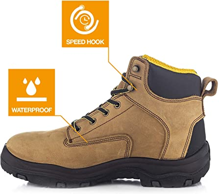 Ever Boot's Ultra Dry Men's Premium Leather Work Boots