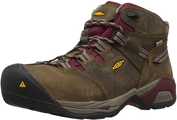 KEEN Utility Women's Detroit Xt Mid Steel Toe Waterproof Work Boot