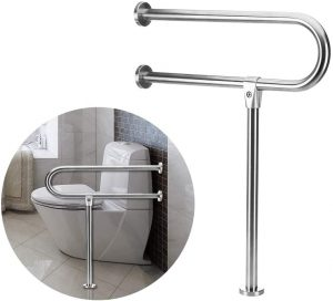 Bariatric Grab Bars Bathroom Safety Rail with Leg