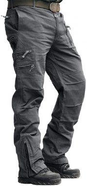 Crysully Men's Cotton Multi-Pockets Heavy Duty Work Pants