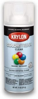 Krylon K05515007 COLORmaxx Spray Paint, Aerosol, Clear