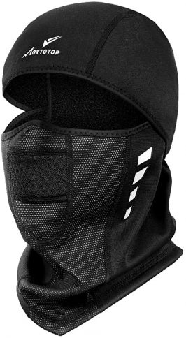 MOVTOTOP Balaclava Face Mask with UV Protection Motorcycle Running Full Face Cover Windproof Waterproof Face Mask for Men Women, Windproof Outdoor Sports Mask Black