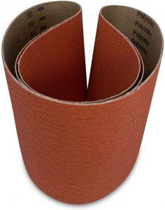 Red Label Abrasives 6 x 48 Metal Ceramic Grinding Belts – 2 Pack